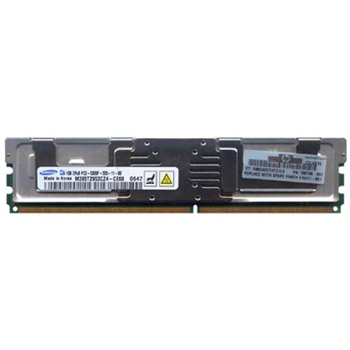 1GB 240p PC2-5300 CL5 18c 64x8 Fully Buffered ECC DDR2-667 2Rx8 FBDIMM  RFB W/hp label