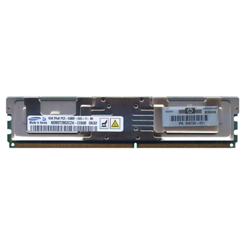 Samsung M395T2953CZ4-CE600 1GB 240p PC2-5300 CL5 18c 64x8 Fully Buffered ECC DDR2-667 2Rx8 FBDIMM RF