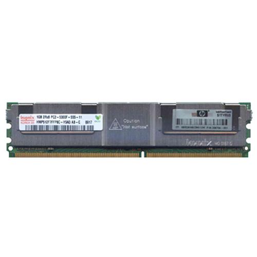 1GB 240p PC2-5300 CL5 18c 64x8 Fully Buffered ECC DDR2-667 2Rx8 FBDIMM  RFB W/hp label silver heat s
