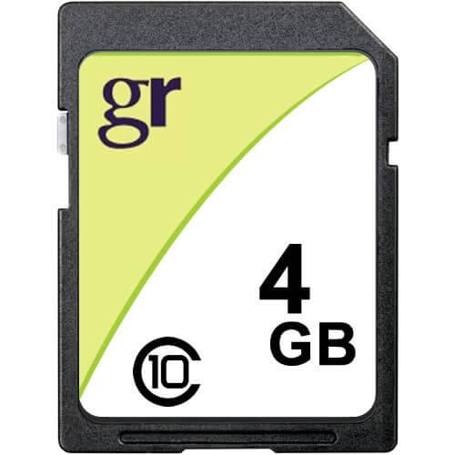 4GB 9p SDHC r16MB/s w8MB/s Bulk GR Label [SM2683+MIC] Class 4 Secure Digital Card