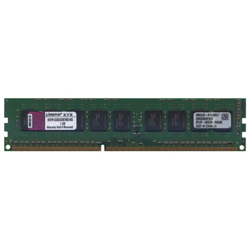 Hynix/Kingston KVR1333D3E9S/4G COW 4GB 240p PC3-10600 CL9 18c 256x8 DDR3-1333 2Rx8 1.5V ECC UDIMM  R