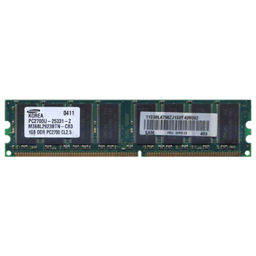 Samsung M368L2923BTN-CB3 BMG 1GB 184p PC2700 CL2.5 16c 64x8 DDR DIMM Mac Mini  RFB  W/IBM label