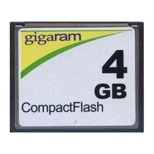 Gigaram CF-4GB-LI BRC 4GB 50p CF r17MB/s w6MB/s with GR Label CompactFlash Card Bulk
