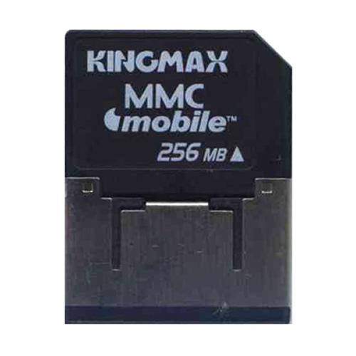KingMax RSMMC256 256MB RSMMCDV Reduced Size MultiMedia MMC Mobile Dual Voltage Card w/Adapter RFB