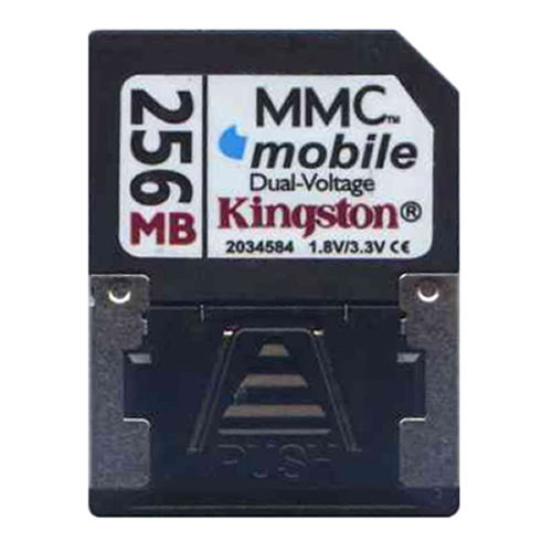 Kingston RSMMC256 256MB RSMMCDV Reduced Size MultiMedia MMC Mobile Dual Voltage Card w/Adapter RFB