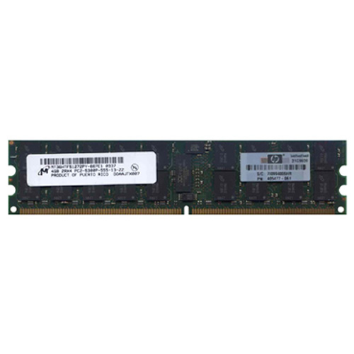 Micron MT36HTF51272PY-667E1 4GB 240p PC2-5300 CL5 36c 256x4 DDR2-667 2Rx4 ECC RDIMM  RFB  W/hp label