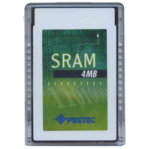4MB Pretec PCMCIA Type 1 SRAM 5V Card with Case