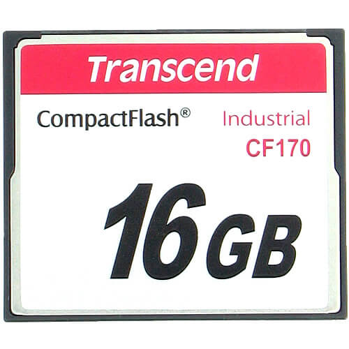 Transcend TS16GCF170 16GB 50p CF 170X Industrial Grade CompactFlash Card with Clam