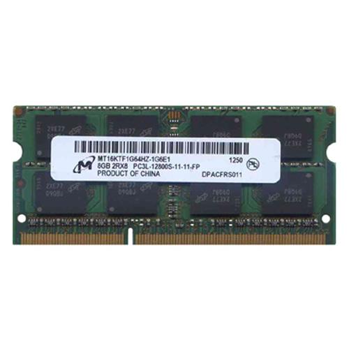 Micron MT16KTF1G64HZ-1G6E1 8GB 204p PC3-12800 CL11 16c 512x8 DDR3-1600 2Rx8 1.35V SODIMM