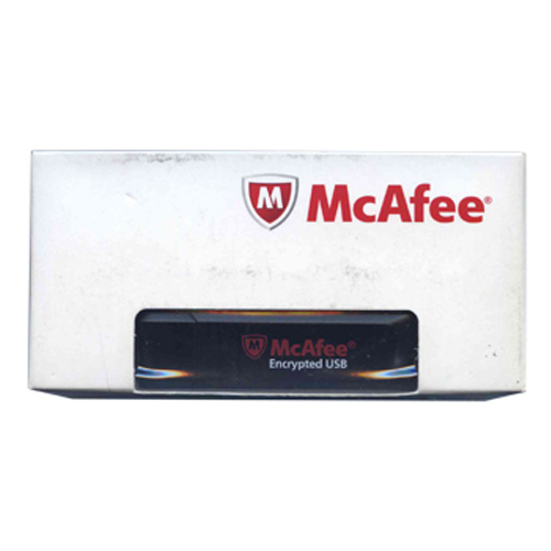 McAfee USB-ST02-1GBPF-BK 1GB USB 2.0 Flash Drive MFE Standard Encrypted Black w/ cap Retail Box
