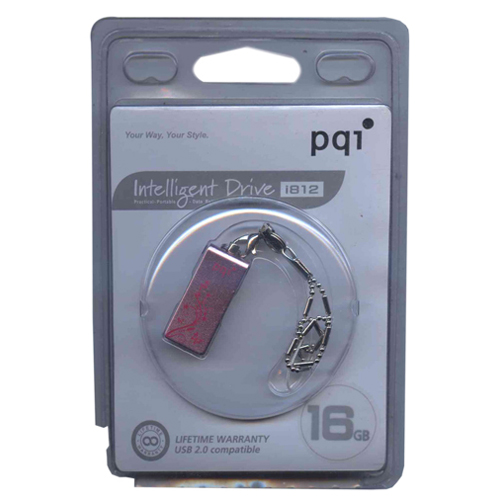 PQI 6812-016GR2006-PK BVP 16GB USB 2.0 Pico Swivel Intellegent i812 Pink PQI Flashdrive Retail w/peg
