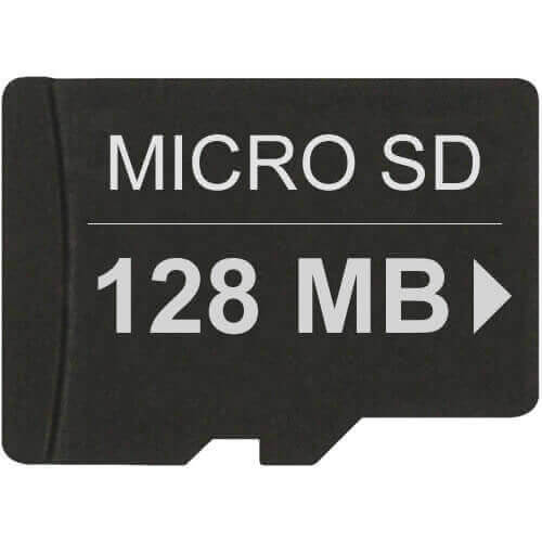 Gigaram TF-128MB-LI BSU 128MB 8p MSD Micro Secure Digital Card Made in Taiwan Bulk