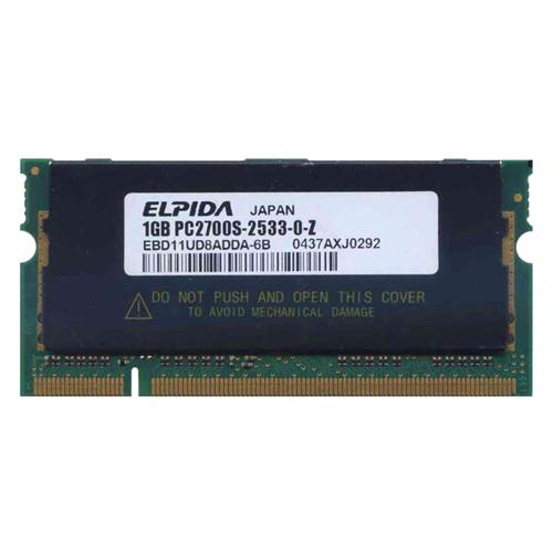 Elpida EBD11UD8ADDA-6B ABQ 1GB 200p PC2700 CL2.5 16c 64x8...