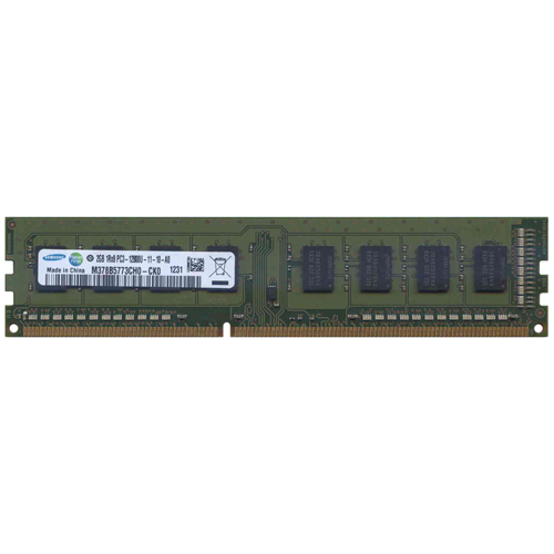 Samsung M378B5773CH0-CK0 2GB 240p PC3-12800 CL11 8c 256x8 DDR3-1600 1Rx8 1.5V UDIMM  RFB  W/HP label