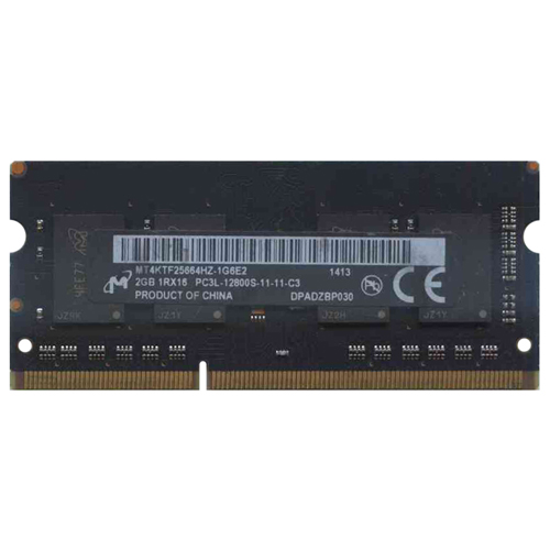 Micron MT4KTF25664HZ-1G6E2 2GB 204p PC3-12800 CL11 4c 256x16 DDR3-1600 1Rx16 1.35V SODIMM
