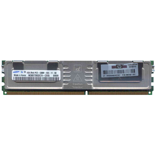 Samsung M395T2953EZ4-CE65 1GB 240p PC2-5300 CL5 18c 64x8 Fully Buffered ECC DDR2-667 2Rx8 FBDIMM  W/