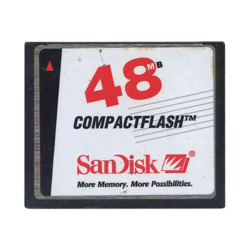 SanDisk SDCFB-48 BQW 48MB 50p CF CompactFlash Card Sandisk Red/Whtie/Black Label Bulk RFB