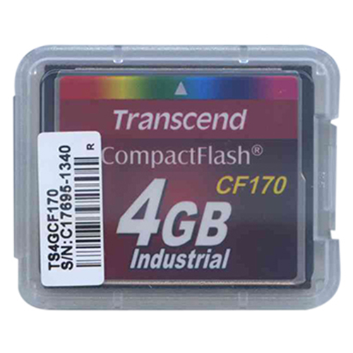 Transcend TS4GCF170 4GB 50p CF CompactFlash Card Industrial 170x Clam
