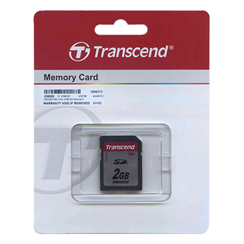 Transcend TS2GSD100I CSC 2GB SD 100x Industrial Grade Secure Digital Card Retail