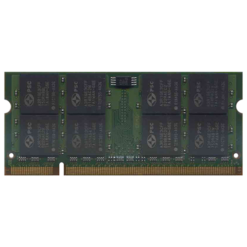 2GB 200p PC2-5300 CL5 16c 128x8 DDR2-667 2Rx8 1.8V SODIMM PCB-D2S28E NRB T20