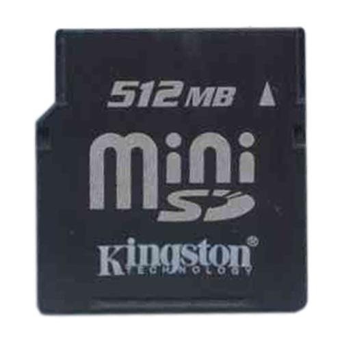 Kingston SDM/512KR BRP 512MB 11P MiniSD Mini Secure Digit...