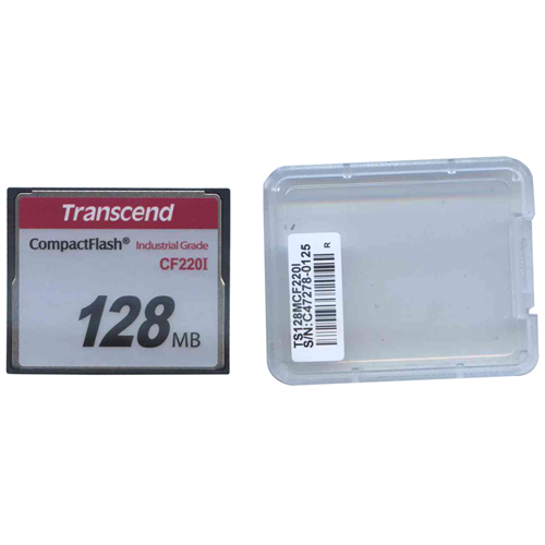 Transcend TS128MCF220I DFU 128MB 50p CF 220x Industrial Grade Transcend Compact Flash Card Clam
