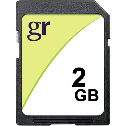 Gigaram SD-2GB-LI 2GB 9p SD r15MB/s w10MB/s Bulk GR Label [SM2682+ MIC] Secure Digital Cards