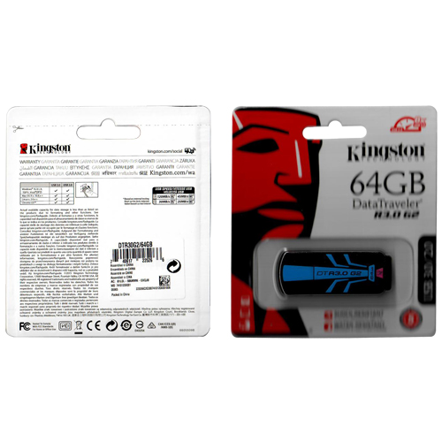 Kingston DTR30G2/64GB 64GB USB 3.0 Flash Drive r120MB/s w45MB/s DataTraveler G2 Retail