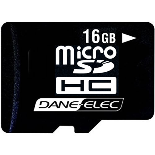 Dane-Elec DA-SDMC-16GB 16GB MSDHC Class 2 r16MB/s w6MB/s Micro Secure Digital High Capacity Card w/o