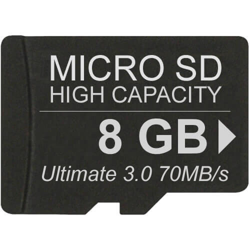 Gigaram MSDHC-8GB-10-JI 8GB 8p MSDHC r70MB/s Class 10 Ultimate 3.0 Micro Secure Digital High Capacit