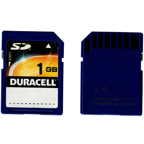Gigaram DA-SD-1024-DURACELL 1GB SD r7MB/s w3MB/s Duracell Label Secure Digital Card Bulk