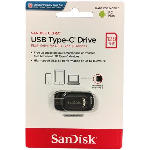 128GB USB 3.1 Flash Drive r150MB/s w40MB/s Type-C Retail