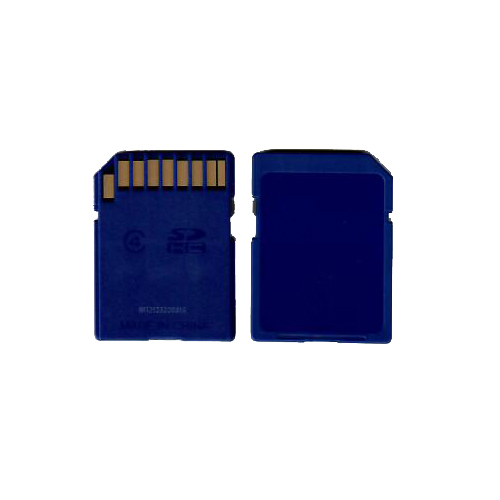 SanDisk SDSDAA-008G-814 CQX 8GB 9p SDHC Class 4 Blank w/ Blue Case Secure Digital High Capacity Card