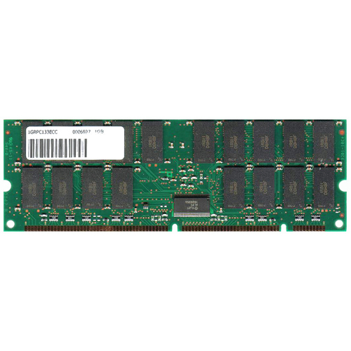 MemoryTen  1GB 168p PC133 CL2 36c 64x4 SDRAM 2Rx4 3.3V ECC 1.2in RDIMM