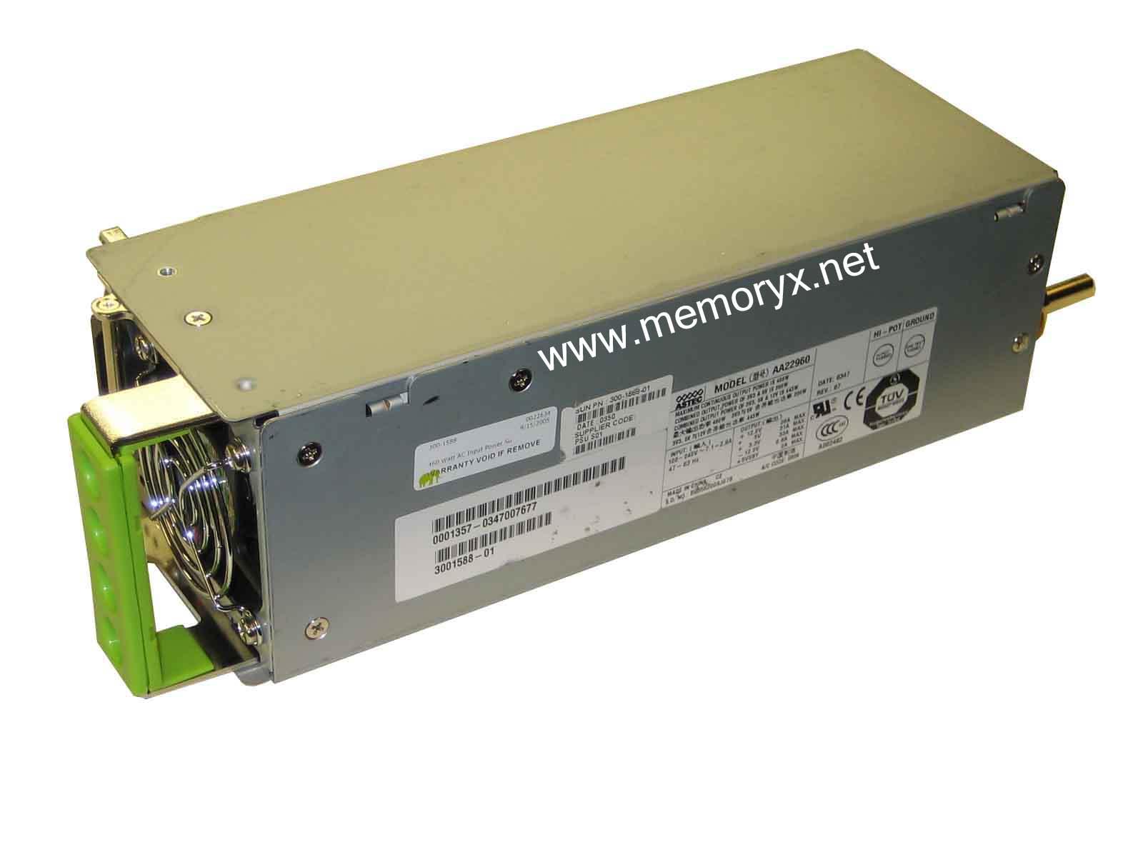 Power Supply, Refurbished, AC, 460W, 300-1588, X7414A