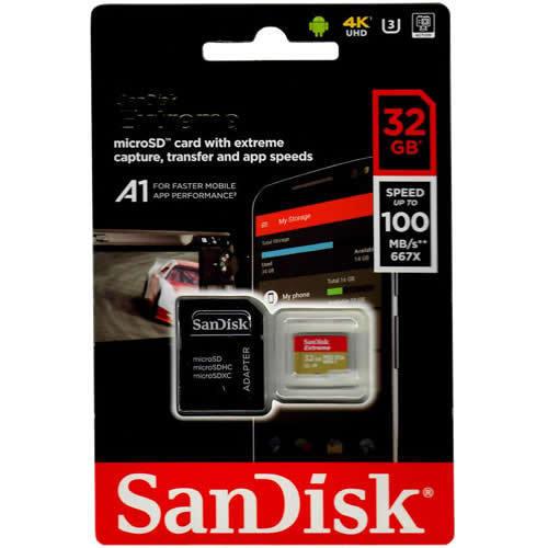 Sandisk SDSQXAF-032G-GN6MA CVL 32GB 8p MSDHC r100MB/s w60...