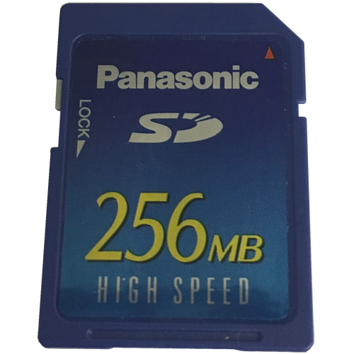Panasonic RP-SD256B BQL 256MB 9p SD Secure Digital Card Bulk New