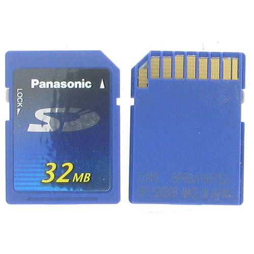 Panasonic RP-SD032B BQH 32MB 9p SD Secure Digital Card Bulk New