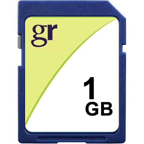 Gigaram SD-1GB-LI BXP 1GB 9p SD r13MB/s w8MB/s [SM2683+MIC] Secure Digital Card w/ GR Label
