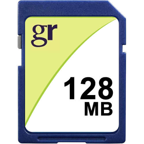 Gigaram SD-128MB-KO BXV 128MB 9p SD r10MB/s w5MB/s [CB88+SAM] with GR Label Secure Digital Card Bulk