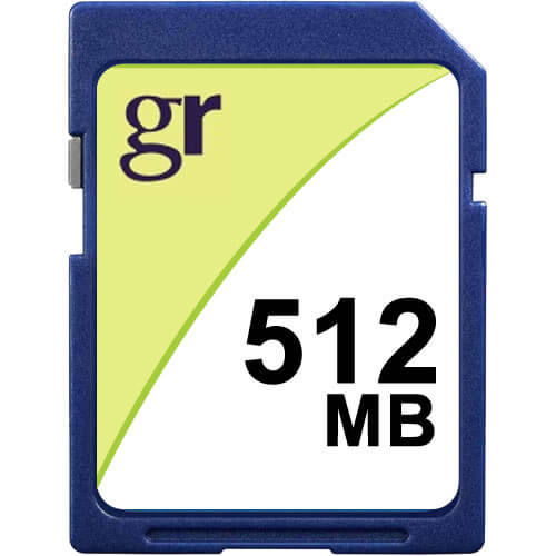 Gigaram SD-512MB-KO BQN 512MB 9p SD r15MB/s w5MB/s [CB88+SAM] Secure Digital Card with GR Label Bulk