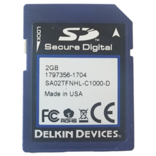 Delkin SE25SBCHL-C1000-D BQL 256MB 9p SD Secure Digital Card