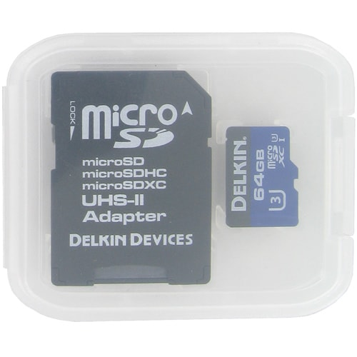 Delkin BBMSDXC1900-64GB CYT 64GB 8p MSDXC 1900x UHS-1 U3 Micro Secure Digital Extended Capacity Card