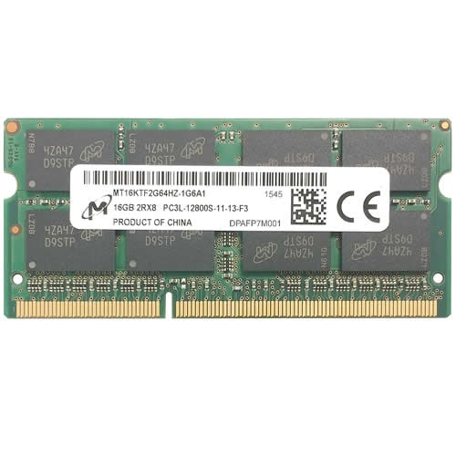 Micron MT16KTF2G64HZ-1G6A1 MAD 16GB 204p PC3-12800 CL11 16c 1GBx8 DDR3-1600 2Rx8 1.35V SODIMM