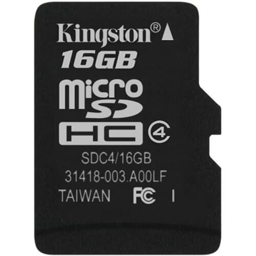 Kingston SDC4/16GBSP CRG 16GB 8p MSDHC Class 4 Micro Secure Digital High Capacity card w/o adapter i