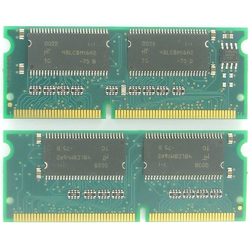 Gigaram GR64S4S816-75-MP72 AAR 64MB 144p PC133 CL3 4c 8x16 SDRAM SODIMM GR-6263, MT48LC8M16A2-75B