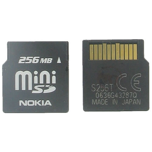 Nokia S256T BRO 256MB 11p MiniSD Mini Secure Digital Card