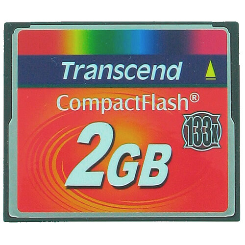 Transcend TS2GCF133 BRH 2GB 50p CF 50MB/s 133x Compact Flash Card