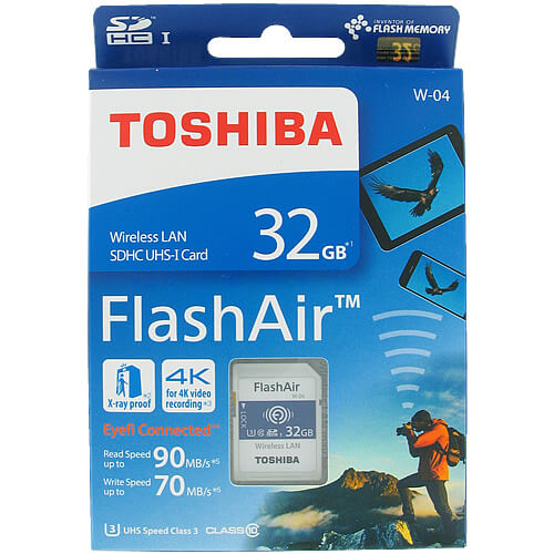 Toshiba THN-NW04W0320A6 CRC 32GB 9p SDHC r90MB/s w70MB/s Class 10 UHS-1 U3 Flash Air W-04 Wireless L