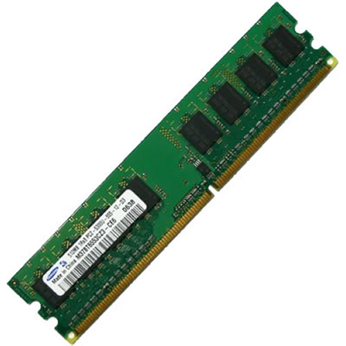 Kingston KVR400D2E5/512.8C 512MB 240p PC2-3200 CL3 8c 64x8 DDR2-400 2Rx8 1.8V UDIMM